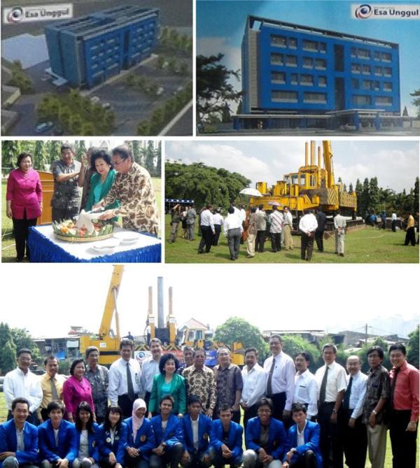Peresmian Konstruksi Awal Gedung Baru Universitas Esa Unggul