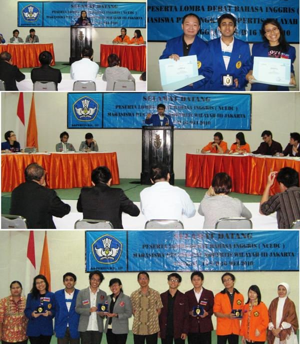 "2 Mahasiswa UEU Raih ""Top Four English Debating Championship"""