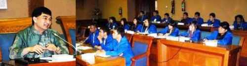 Badan Legislasi DPR RI – Dimyati Natakusumah Beri Penjelasan kepada Mahasiswa FH UEU tentang Mekanisme Perundang – Undangan RI