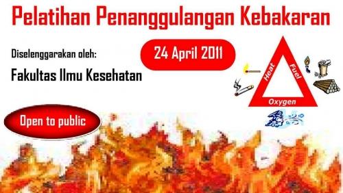 BEM Fakultas Ilmu Kesehatan UEU Menyelenggarakan Pelatihan Penanggulangan Kebakaran
