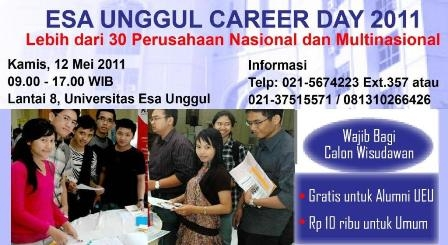 Esa Unggul Career Day 2011: Job Fair, Seminar, Direct Interview