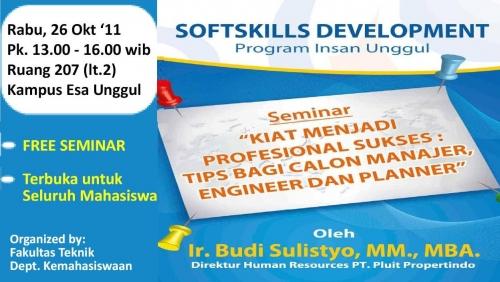 Seminar: Kiat Menjadi Profesional Sukses