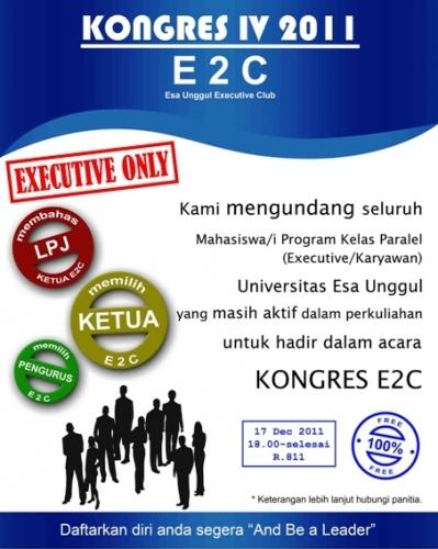 Kongres IV 2011 – Esa Unggul Executive Club (E2C)