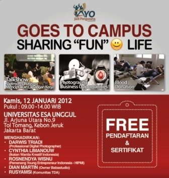 "Goes to Campus Sharing ""Fun"" Smile Life"