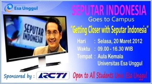 Seputar Indonesia Goes To Campus Esa Unggul