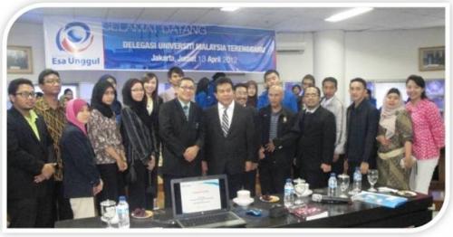 Kunjungan Universiti Terengganu Malaysia (UMT) ke Kampus Universitas Esa Unggul