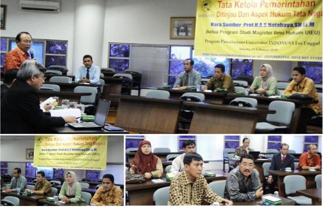 Seminar Tata Kelola Pemerintahan Selasa
