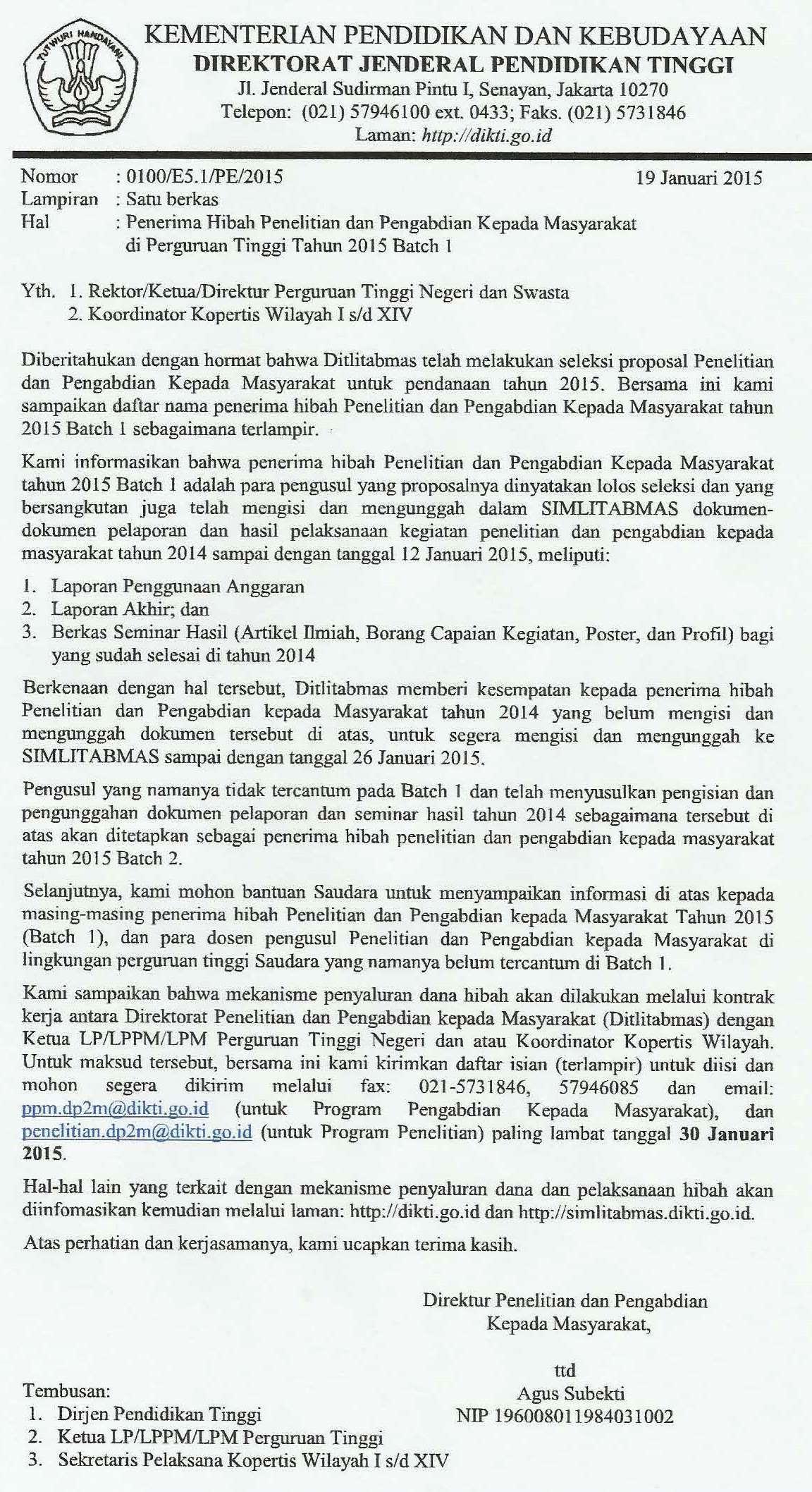 Berita & Info LPPM UEU