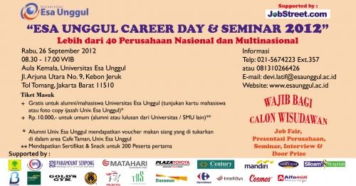 Esa Unggul Career Day dan Seminar 2012