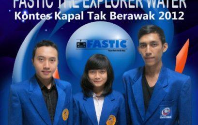 Selamat atas keberhasilan Tim FASTIC THE EXPLORER WATER – Fasilkom Robotic Esa Unggul (FASTIC) lolos sebagai finalis untuk mengikuti Kontes Kapal Cepat Tak Berawak 2012