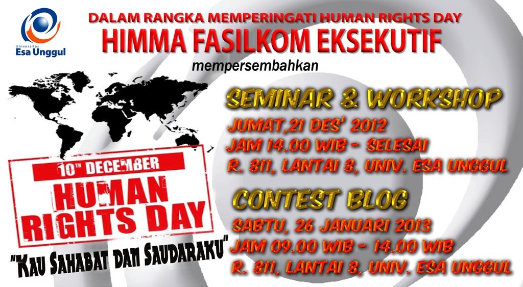 Workshop & Seminar dan Contest Blog – HIMMA Fasilkom Eksekutif Universitas Esa Unggul