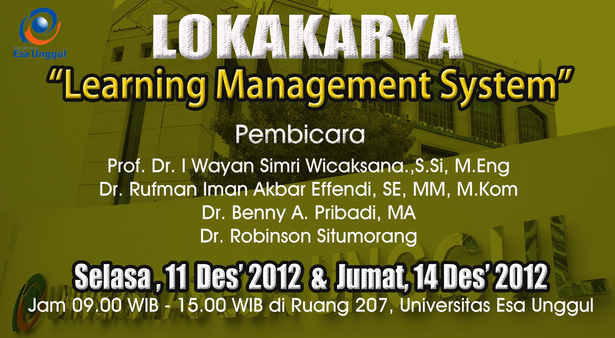 """Lokakarya """" Learning Management System"""""""