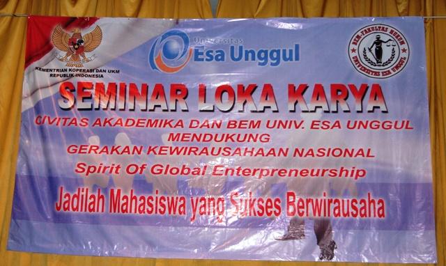 "Seminar dan Workshop Entreneurship ""SPIRIT OF GLOBAL ENTREPRENEURSHIP"""