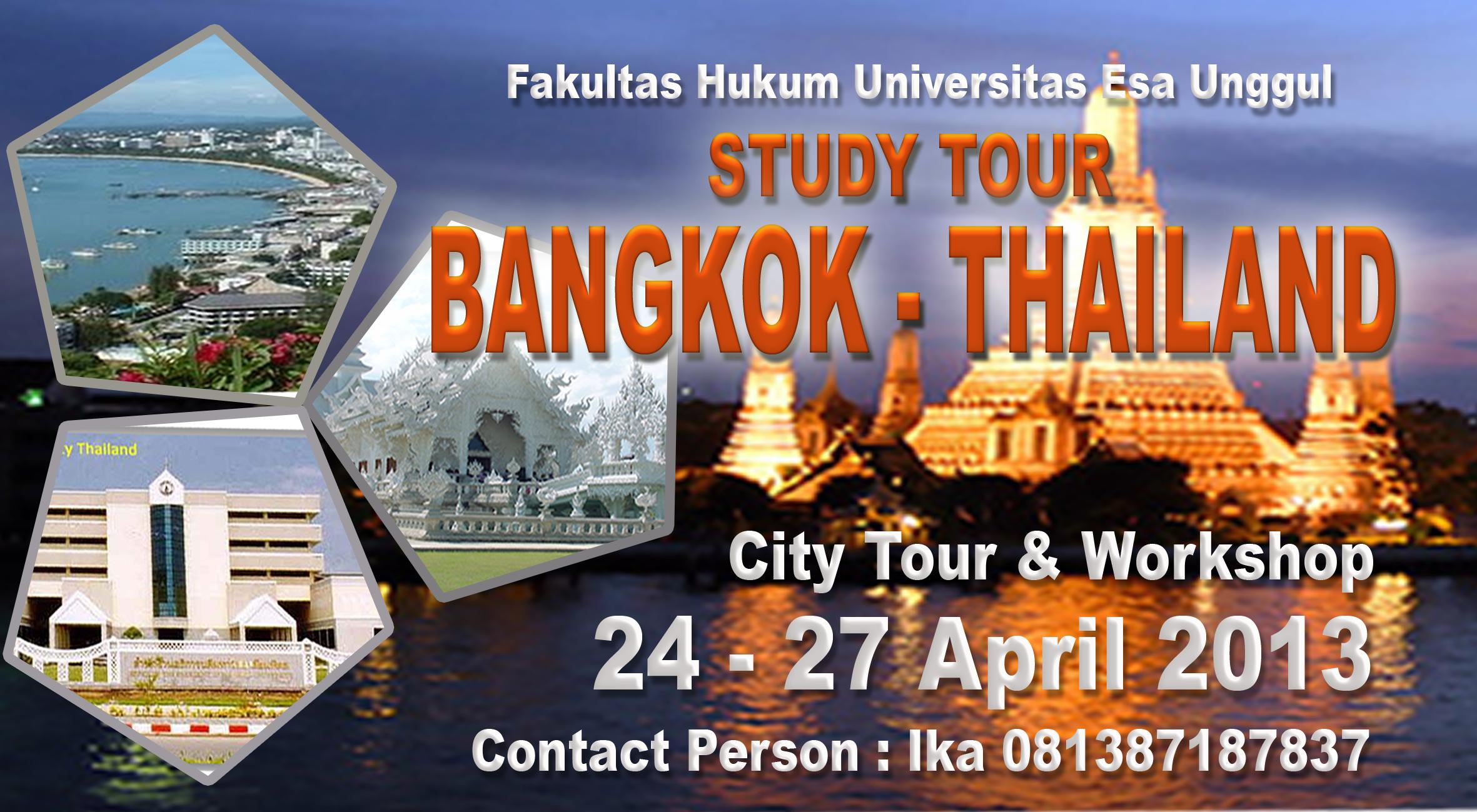 Fakultas Hukum menyelenggarakan Field Study to Bangkok, Thailand