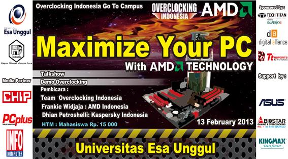 "Himpunan Mahasiswa Jurusan Sistem Informasi menyelenggarakan Talkshow "" Maximize Your PC with AMD Technology"