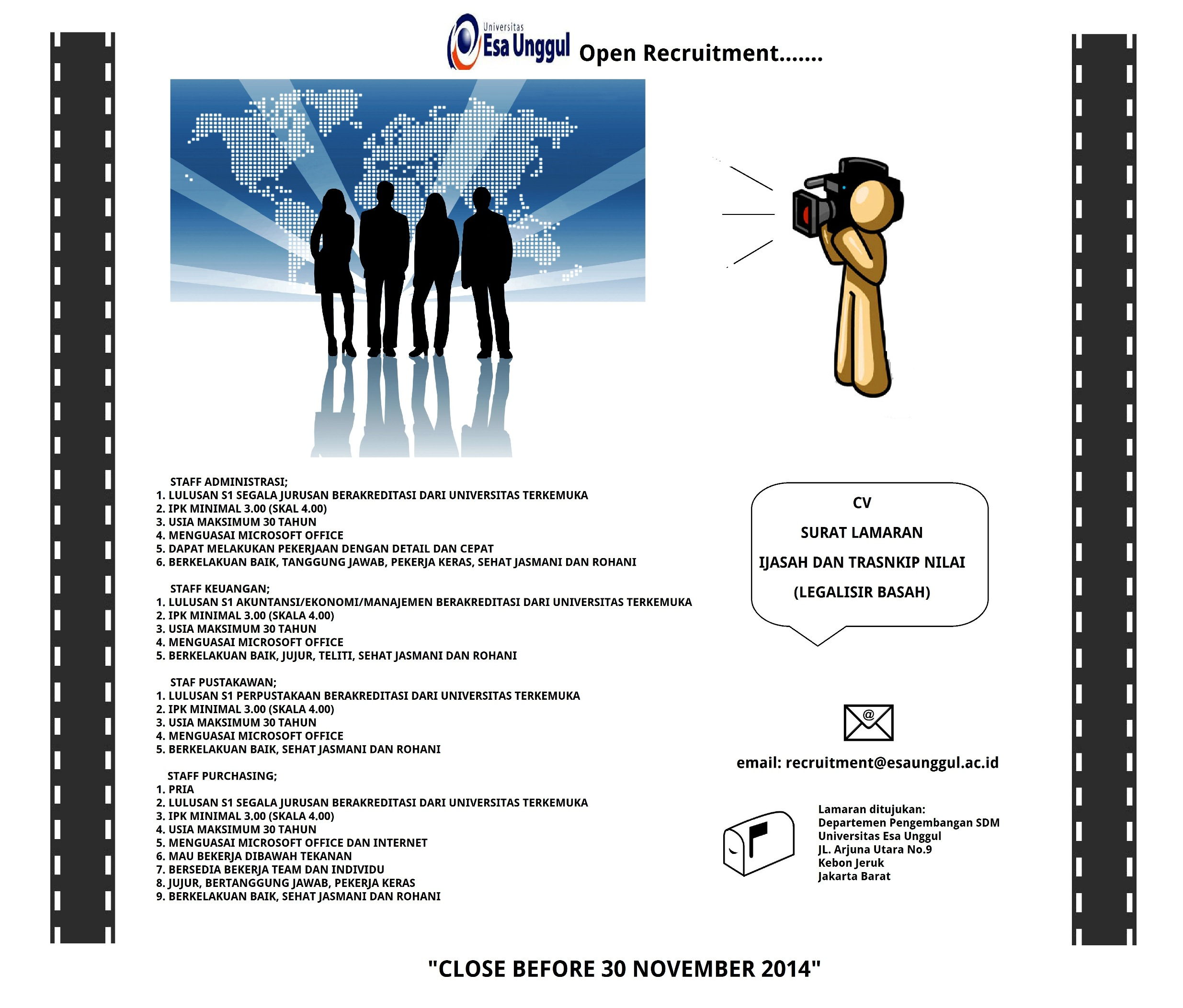 Open Recruitment 2016