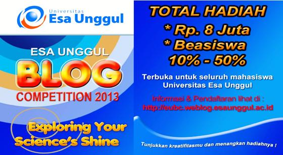 Blog Competition untuk Mahasiswa Universitas Esa Unggul