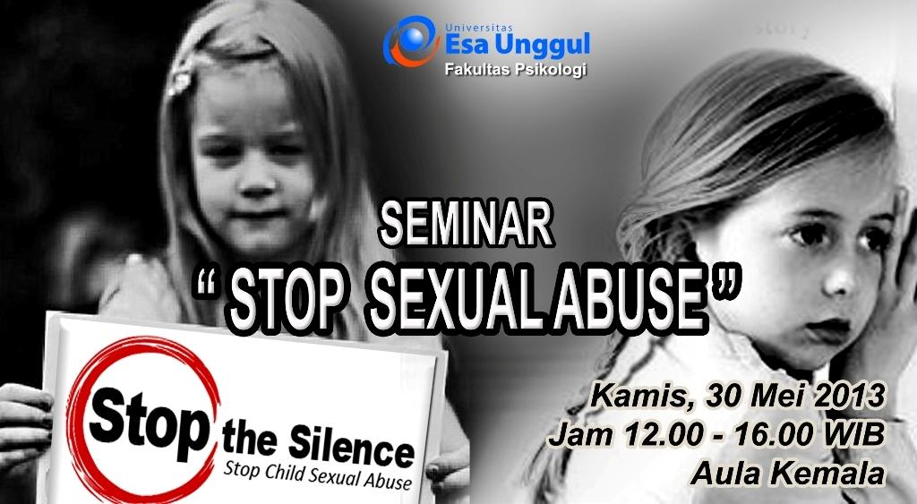 """Fakultas Psikologi Universitas Esa Unggul menyelenggarakan Seminar  """"Stop Sexual Abuse"""", Dalam Perspektif Psikologi dan Hukum"""