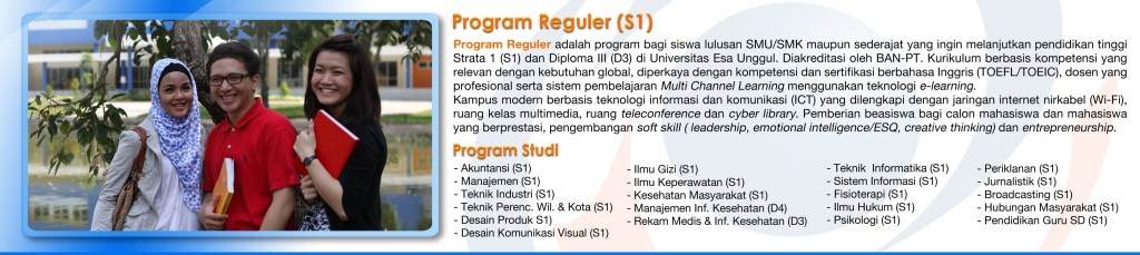 Universitas Esa Unggul Program Reguler Program Paralel Program