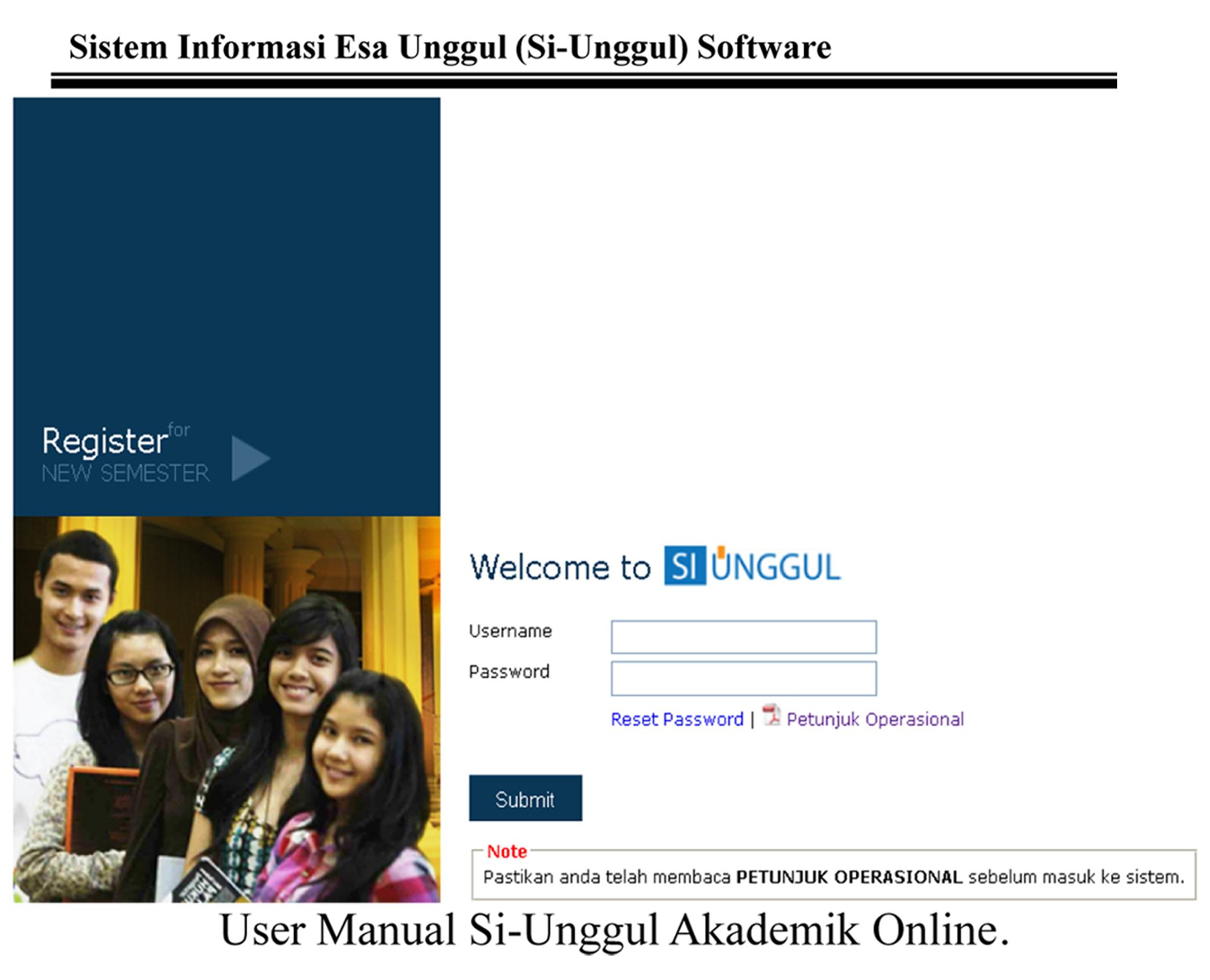 User Manual Sistem Informasi Esa Unggul (Si – Unggul)