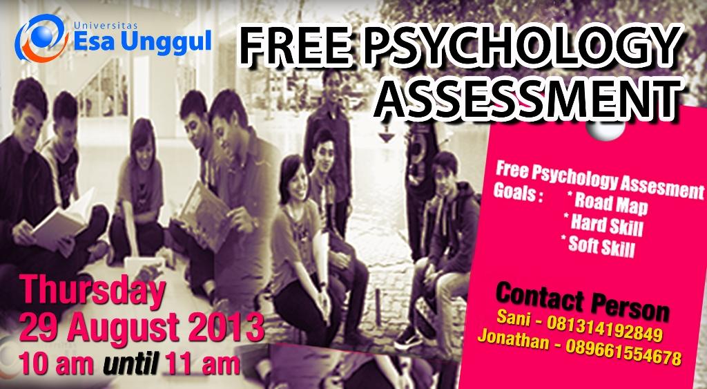 """Universitas Esa Unggul bekerjasama dengan Shiva People Development menyelenggarakan """" Free Psychology Assessment """""""
