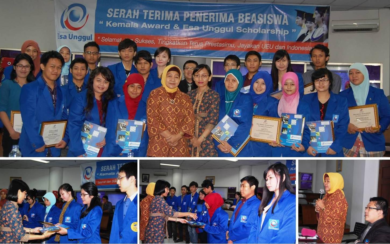 Penyerahan Penghargaan Kemala Award dan Esa Unggul Scholarship 2013
