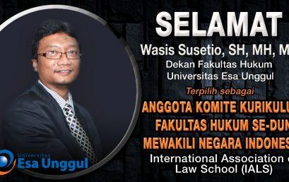 Selamat kepada Bapak Wasis Susetio, SH, MH, MA terpilih sebagai Anggota Komite Kurikulum Fakultas Hukum Se-dunia Mewakili Negara Indonesia – International Association of Law School (IALS)