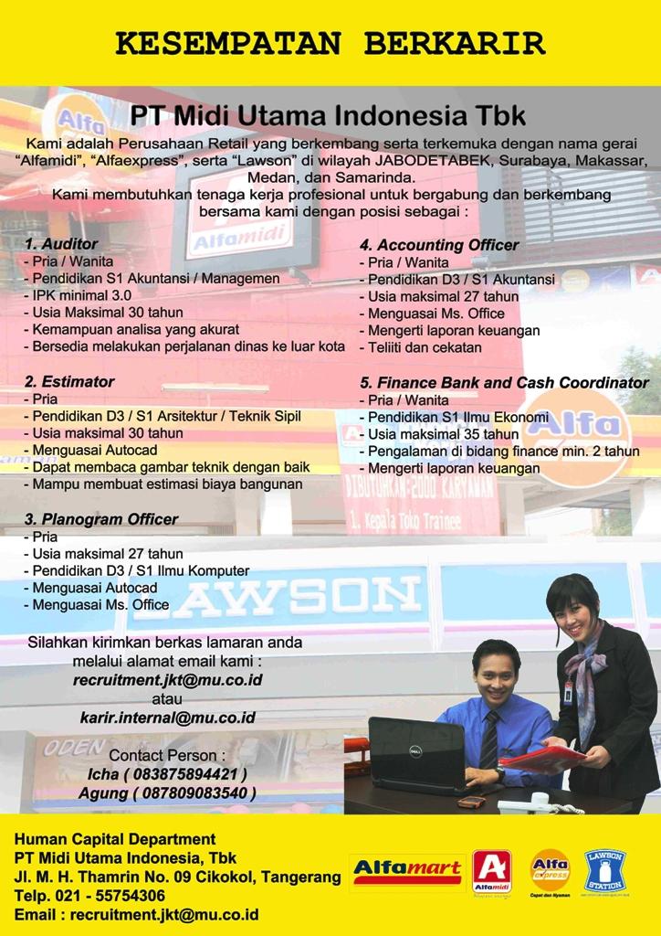 PT. Midi Utama Indonesia, Tbk – Alfamidi, Alfamart