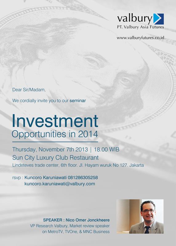 PT. Valbury Asia Futures – Investment Opportunities in 2014
