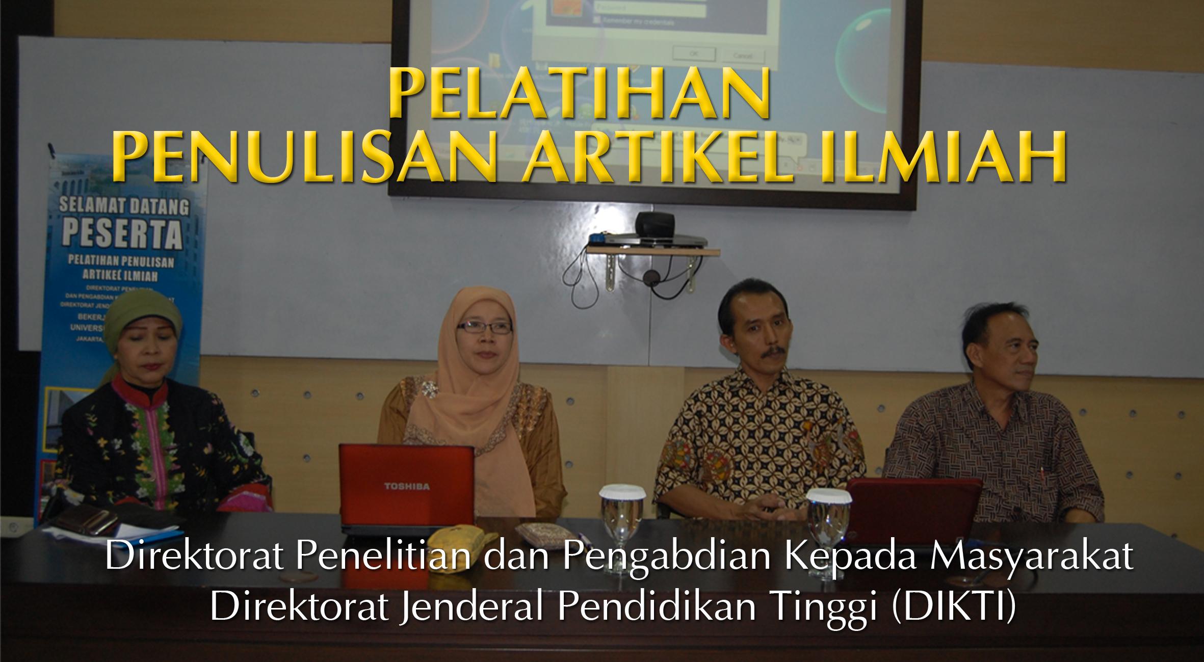 Universitas Esa Unggul menyelenggarakan Pelatihan Penulisan Artikel Ilmiah – Direktorat Pengabdian dan Pengabdian Kepada Masyarakat DIKTI