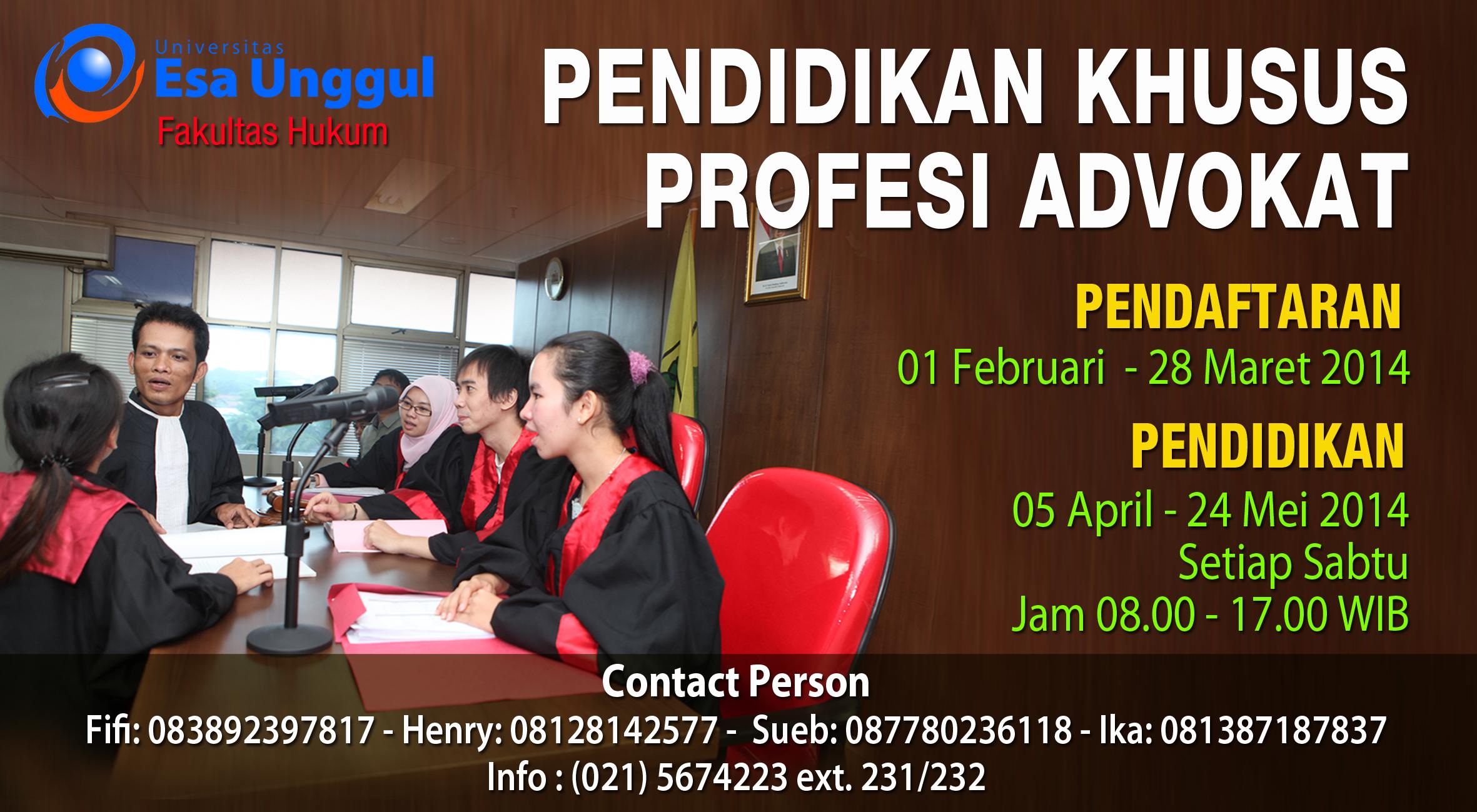 Fakultas Hukum UEU bekerjasama dengan PERADI menyelenggarakan Pendidikan Khusus Profesi Advokat
