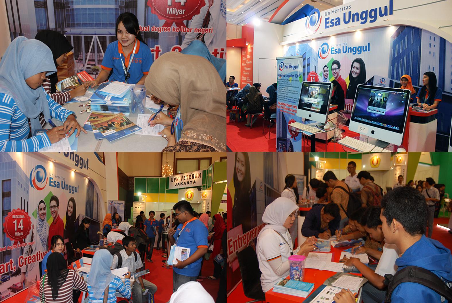 "Universitas Esa Unggul mengikuti pameran pendidikan "" EDUCATION TRAINING EXPO & INADIDAC EXPO 2014″ yang diselenggarakan di Jakarta Convention Center (JCC) pada tanggal 23 – 26 Januari 2014,"