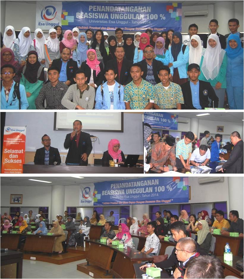 117 Siswa Terbaik Meraih Beasiswa Unggulan 100% Universitas Esa Unggul TA 2014/2015