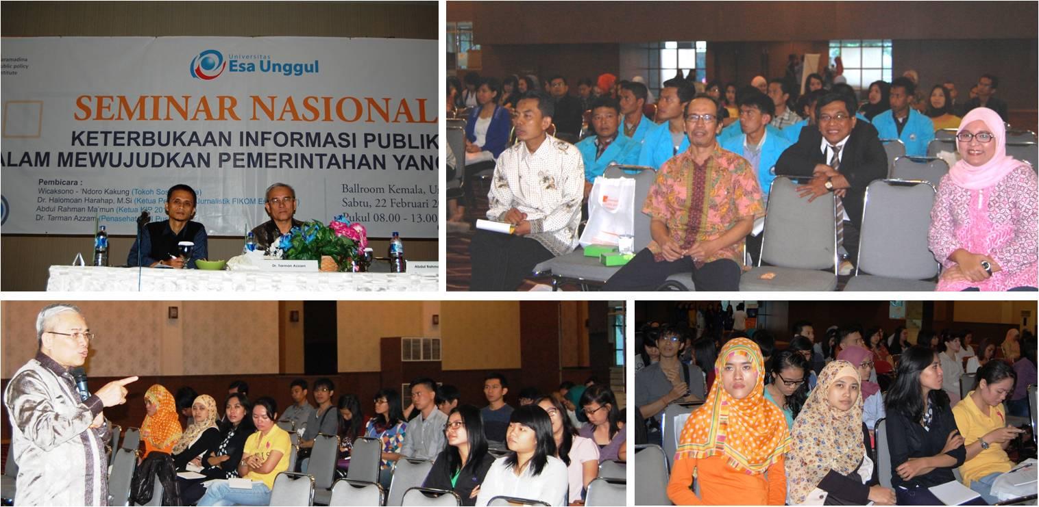Seminar Nasional Keterbukaan Informasi Publik dalam Mewujudkan Pemerintahan yang Bersih