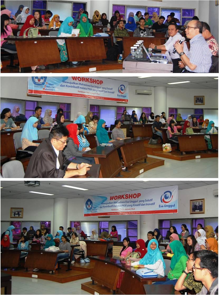 Workshop Program Kreativitas Mahasiswa 2014