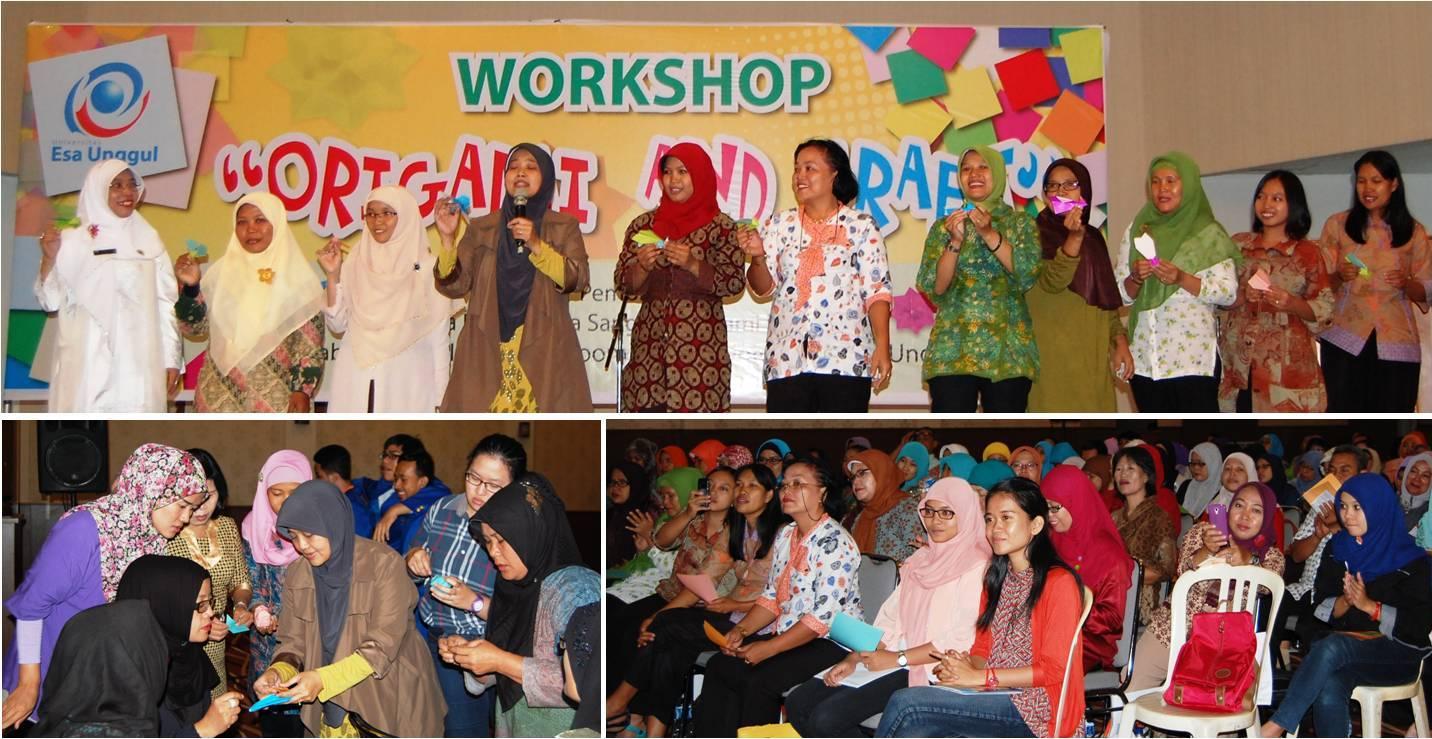 Fakultas Keguruan dan Ilmu Pendidikan bekerjasama dengan Sanggar Origami Indonesia menyelenggarakan Workshop Origami dan Craft Bagi SD/TK/PAUD