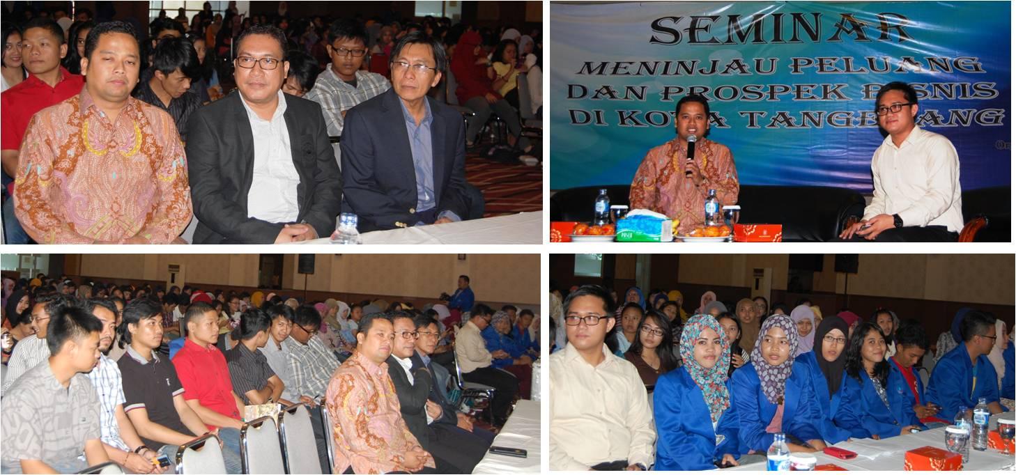 Seminar Meninjau Peluang dan Prospek Bisnis di Kota Tangerang di Universitas Esa Unggul