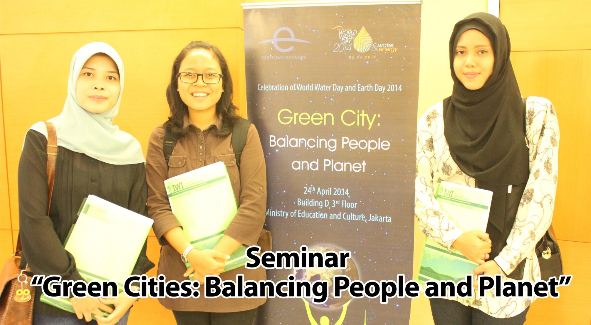 "Seminar ""Green Cities: Balancing People and Planet"""