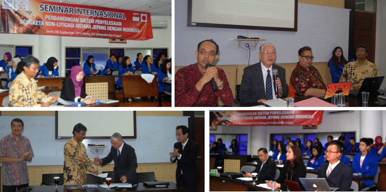 """Seminar Internasional """"Perbandingan Sistem Penyelesaian Sengketa Non-Litigasi antara Jepang dengan Indonesia"""""""