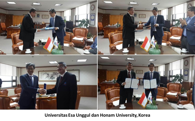 Kunjungan Kerjasama antara Universitas Esa Unggul dengan Woosong University dan Honam University, Korea