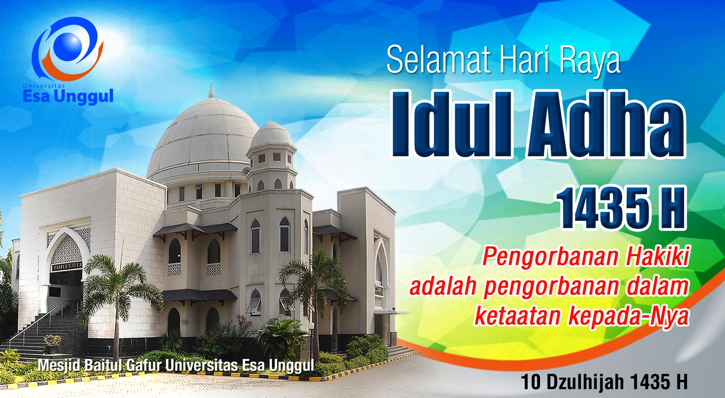 Universitas Esa Unggul mengucapkan Selamat Hari Raya Idul Adha 1435 H