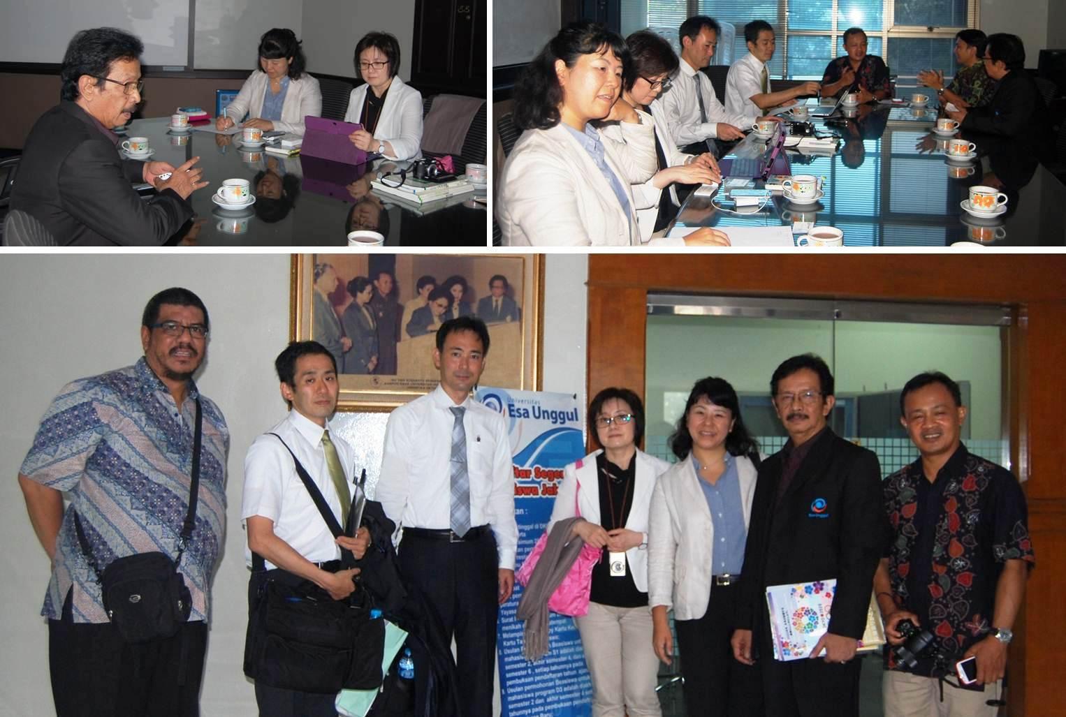 Kunjungan Penjajakan Kerjasama antara Tokyo Metropolitan University Japan dengan Universitas Esa Unggul