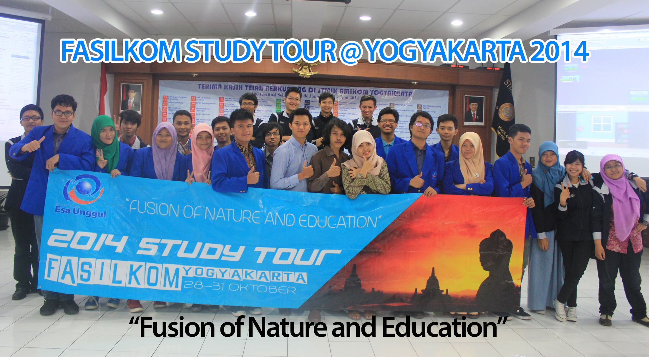"FASILKOM Study Tour @ Yogyakarta 2014 – ""Fusion of Nature and Education"""