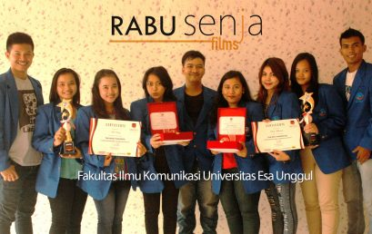 RABU Senja Films Production House – FIKOM 2011 Universitas Esa Unggul berhasil meraih Juara Terbaik III Film Pendek Sukabumi Movie Award 2014
