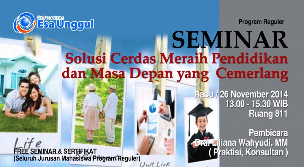 """Universitas Esa Unggul menyelenggarakan Seminar """" Solusi ..."""