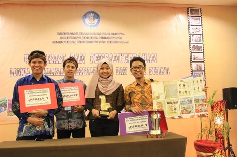 Selamat..Mahasiswa FIKOM Juara 1 dan Favorit Lomba Visualisasi Kesejarahan dan Nilai Budaya 2014