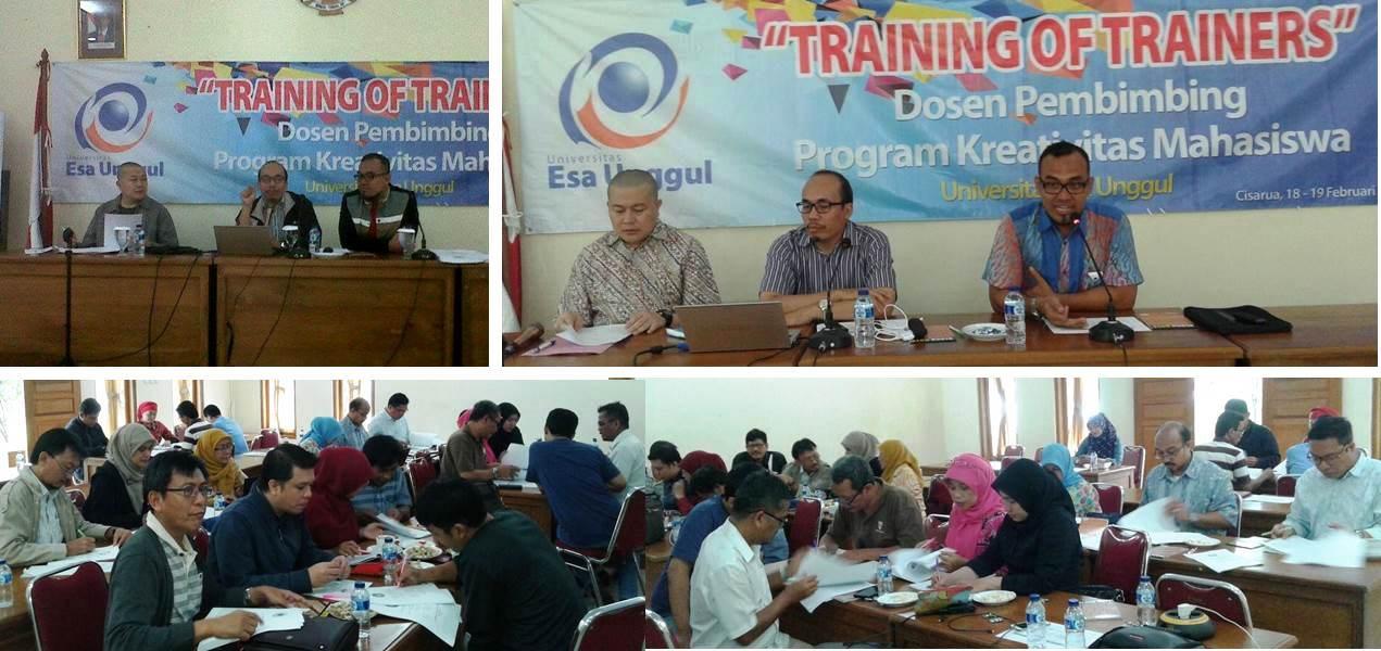 Training of Trainers (ToT) Dosen Pembimbing Program Kreativitas Mahasiswa (PKM) Universitas Esa Unggul