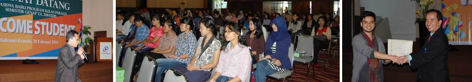 Welcome Student Program Paralel Semester Genap 2014 Universitas Esa Unggul