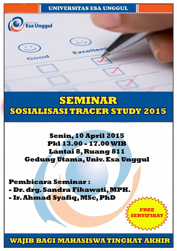 Seminar dan Sosialisasi Tracer Study 2015