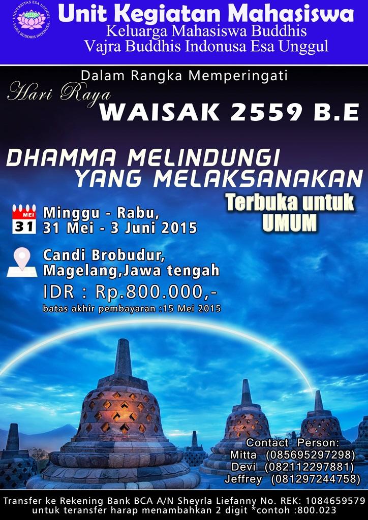Peringatan Hari Waisak Bersama KMB Vajra Buddhis Indonusa